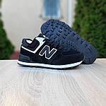 Чоловічі зимові кросівки New Balance 574 (чорно-білі) 3606, фото 2