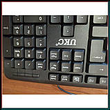 Классическая USB клавиатура для ПК, UKC KEYBOARD X1 K107, фото 3