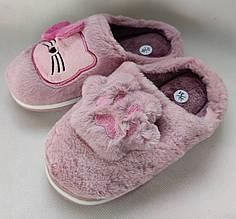 Детские тапочки тапки теплые комнатные для дома девочки домашние розовые котики 32/33р 20.5-21см