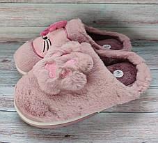 Детские тапочки тапки теплые комнатные для дома для девочки домашние розовые котики 34/35р, фото 3
