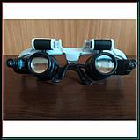 Бинокуляр очки бинокулярные со светодиодной подсветкой 9892-H1, фото 3