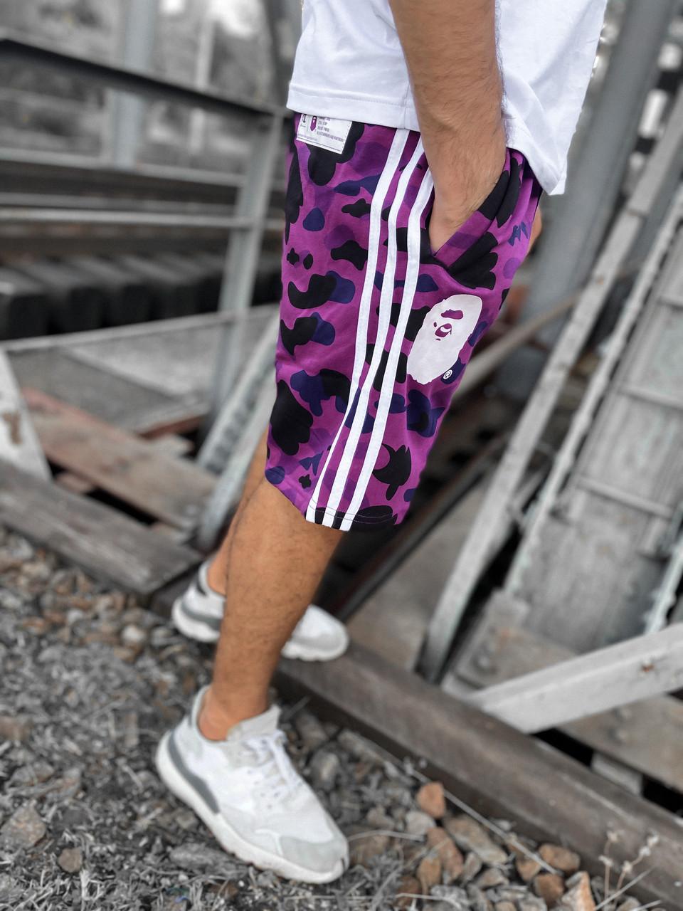 """Шорты Bape x Champion """"Como violet"""" ⏩ Наличие: (M)-1 (XL)-1"""