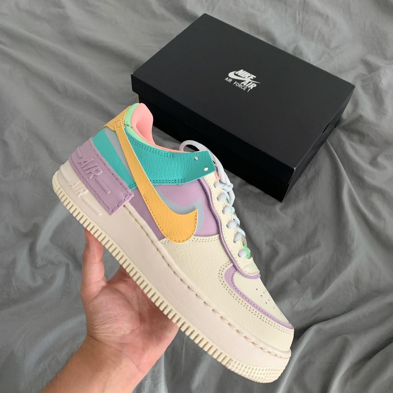Кроссовки Nike Air Force 1 Shadow Blue-Pink ⏩ Наличие: (36)-1 (39)-1
