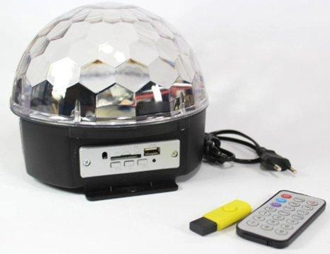 Диско шар Magic Ball Music Super Light с пультом