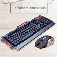 Игровой комплект мышь и клавиатура с подсветкой комплект проводная игровая клавиатура с подсветкой и мышкой
