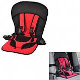 Детское автокресло бескаркасное Multi-Function Car Cushion (красное) 9 мес-4г, фото 4
