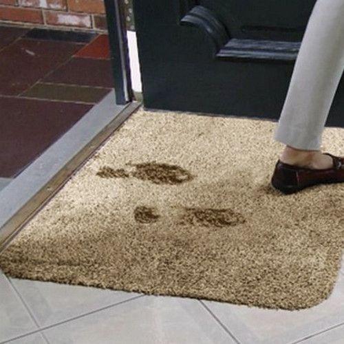 Супервпитывающий придверный коврик Clean Step Mat коричневый