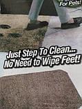 Супервпитывающий придверный коврик Clean Step Mat коричневый, фото 5