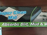 Супервпитывающий придверный коврик Clean Step Mat коричневый, фото 7