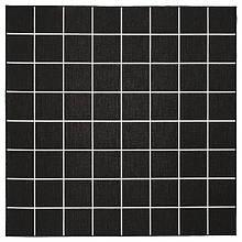 SVALLERUP СВАЛЛЕРУП, Килим, пласке плетіння, приміщ/вул, односторонній, чорний, білий200х200 см