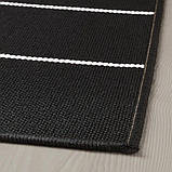 SVALLERUP СВАЛЛЕРУП, Килим, пласке плетіння, приміщ/вул, двосторонній, чорний, білий200x200 см, фото 3