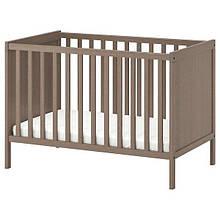 SUNDVIK СУНДВІК, Ліжко для немовлят, сіро-коричневий60x120 см