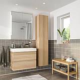 GODMORGON ГОДМОРГОН / BRÅVIKEN БРОВІКЕН, Меблі для ванної кімнати, набір 5шт, під білений дуб, BRODRUND, фото 2