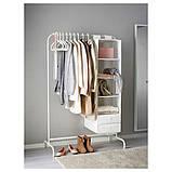 MULIG МУЛІГ, Штанга для одягу, білий 99x46 см, фото 2