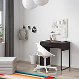MICKE МІККЕ, Письмовий стіл, чорно-коричневий73х50 см, фото 3