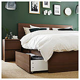MALM МАЛЬМ, Короб під ліж для висок каркаса ліж, коричнева морилка ясеневий шпон200 см, фото 3