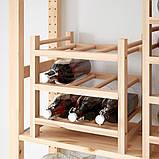 HUTTEN ХУТТЕН, Підставка для 9 винних пляшок, масив деревини, фото 2