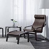 POÄNG ПОЕНГ, Крісло, чорно-коричневий, ГЛОСЕ темно-коричневий, фото 2