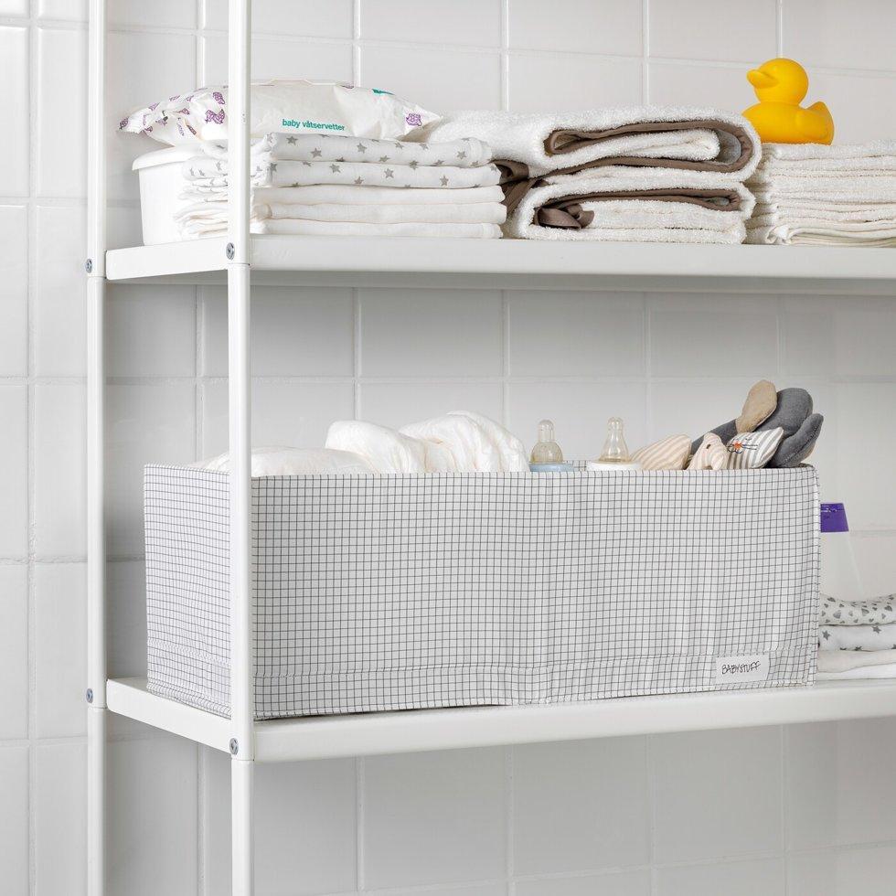 STUK СТУК, Коробка з відділеннями, білий/сірий20x51x18 см