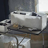 STUK СТУК, Коробка з відділеннями, білий/сірий20x51x18 см, фото 2