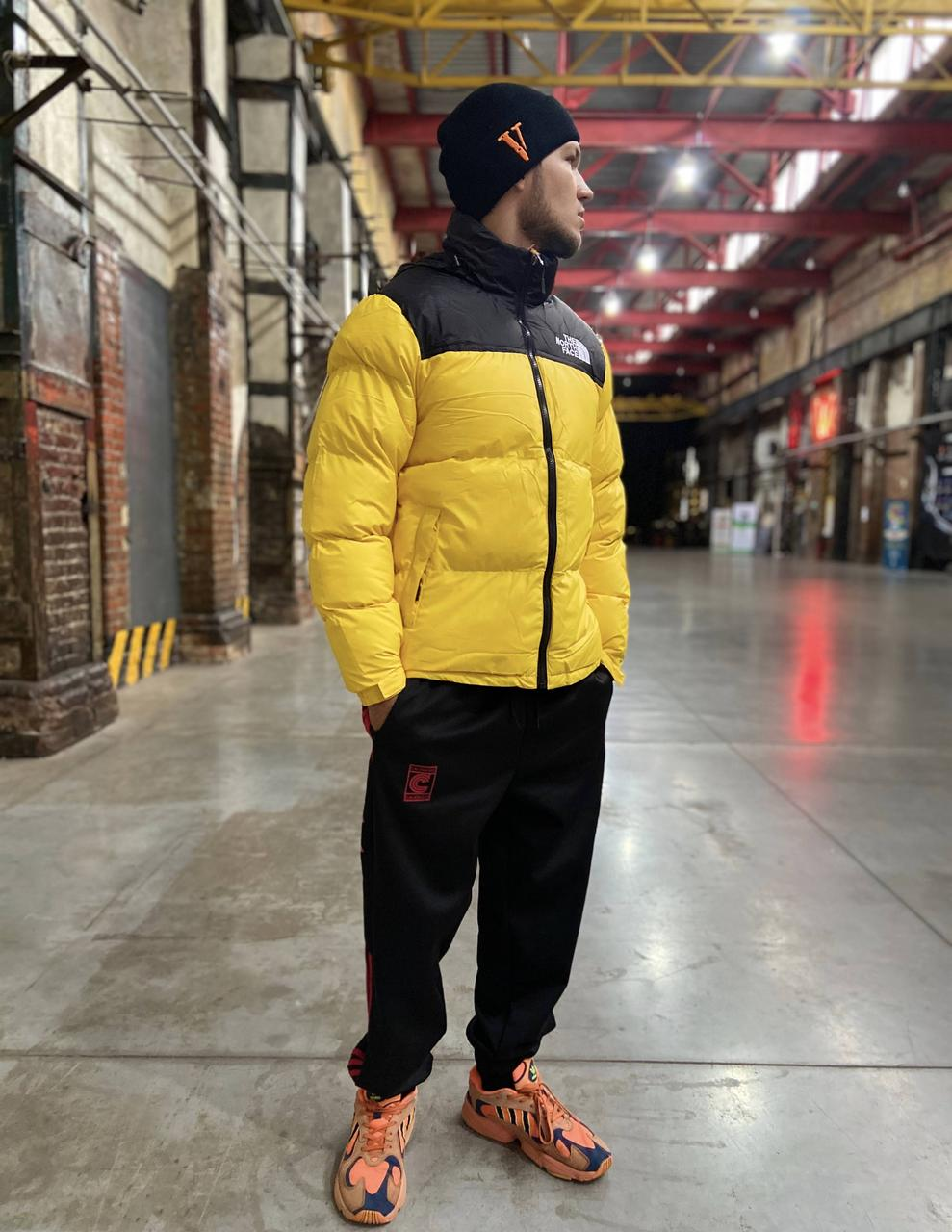 Пуховик TNF Nuptse 700 Yellow