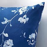 BLÅGRAN БЛОГРАН, Чохол для подушки, синій, білий50x50 см, фото 3