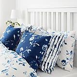 BLÅGRAN БЛОГРАН, Чохол для подушки, синій, білий50x50 см, фото 4