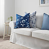 BLÅGRAN БЛОГРАН, Чохол для подушки, синій, білий50x50 см, фото 5