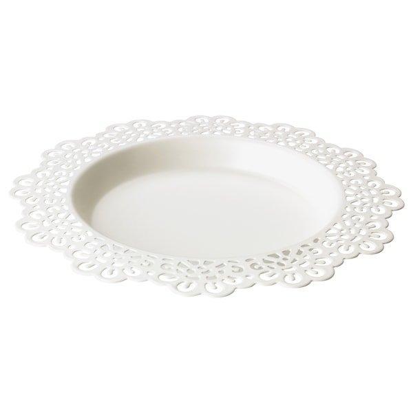 SKURAR СКУРАР, Блюдо для свічки, білий18 см