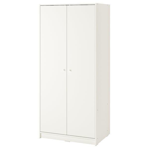 KLEPPSTAD КЛЕППСТАД, Гардероб із 2 дверцятами, білий79x176 см