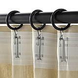 SYRLIG СІРЛІГ, Кільце для штори із затиск і гачком, чорний 38 мм, фото 2