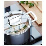 IKEA 365+, Каструля із кришкою, нержавіюча сталь, скло5 л, фото 3