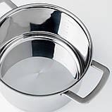 IKEA 365+, Каструля із кришкою, нержавіюча сталь, скло5 л, фото 4