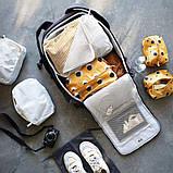 RENSARE РЕНСАРЕ, Сумка для одягу з відділенням, картатий візерунок, білий, фото 3