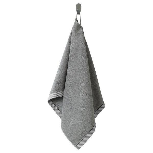 VIKFJÄRD ВІКФЙЕРД, Рушник для рук, сірий50x100 см
