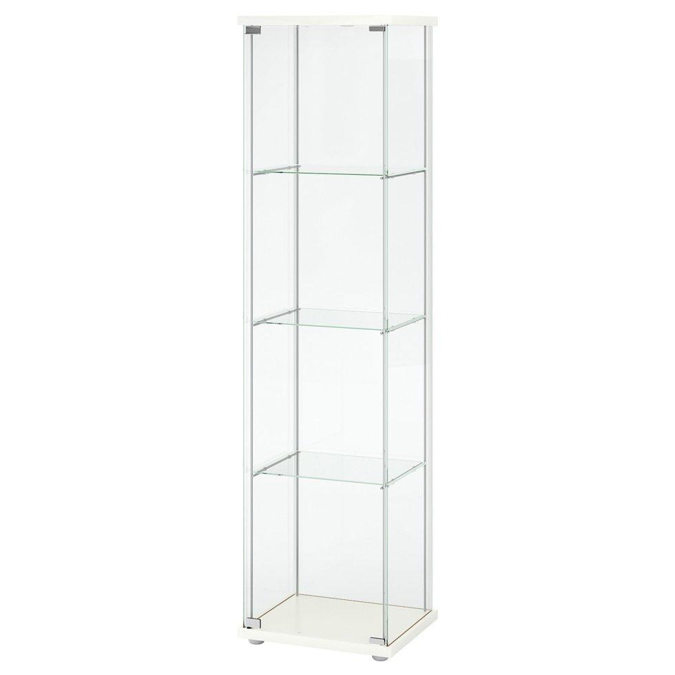 DETOLF ДЕТОЛЬФ, Шафа зі скляними дверцятами, білий43x163 см