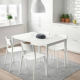 MELLTORP МЕЛЬТОРП / JANINGE ЯНІНГЕ, Стіл+4 стільці, білий, білий125 см, фото 2