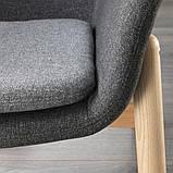 VEDBO ВЕДБУ, Крісло із високою спинкою, ГУННАРЕД темно-сірий, фото 4