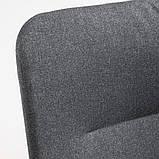 VEDBO ВЕДБУ, Крісло із високою спинкою, ГУННАРЕД темно-сірий, фото 6