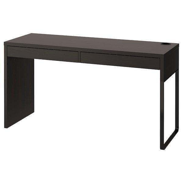 MICKE МІККЕ, Письмовий стіл, чорно-коричневий142x50 см