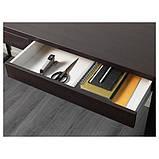 MICKE МІККЕ, Письмовий стіл, чорно-коричневий142x50 см, фото 4