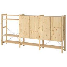 IVAR ІВАР, 3 секції/полиці/шафа, сосна 259x30x124 см