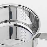 IKEA 365+, Ківш із кришкою, нержавіюча сталь, скло1 л, фото 5