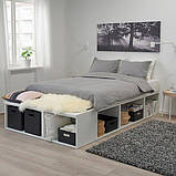 PLATSA ПЛАТСА, Каркас ліжка з відділ д/зберігання, білий140x200 см, фото 3