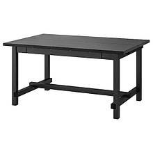 NORDVIKEN НОРДВІКЕН, Розкладний стіл, чорний152/223x95 см