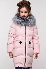 Детская зимняя куртка для девочек Жозефина-2 ТМ Нуи Вери Размер 146-152