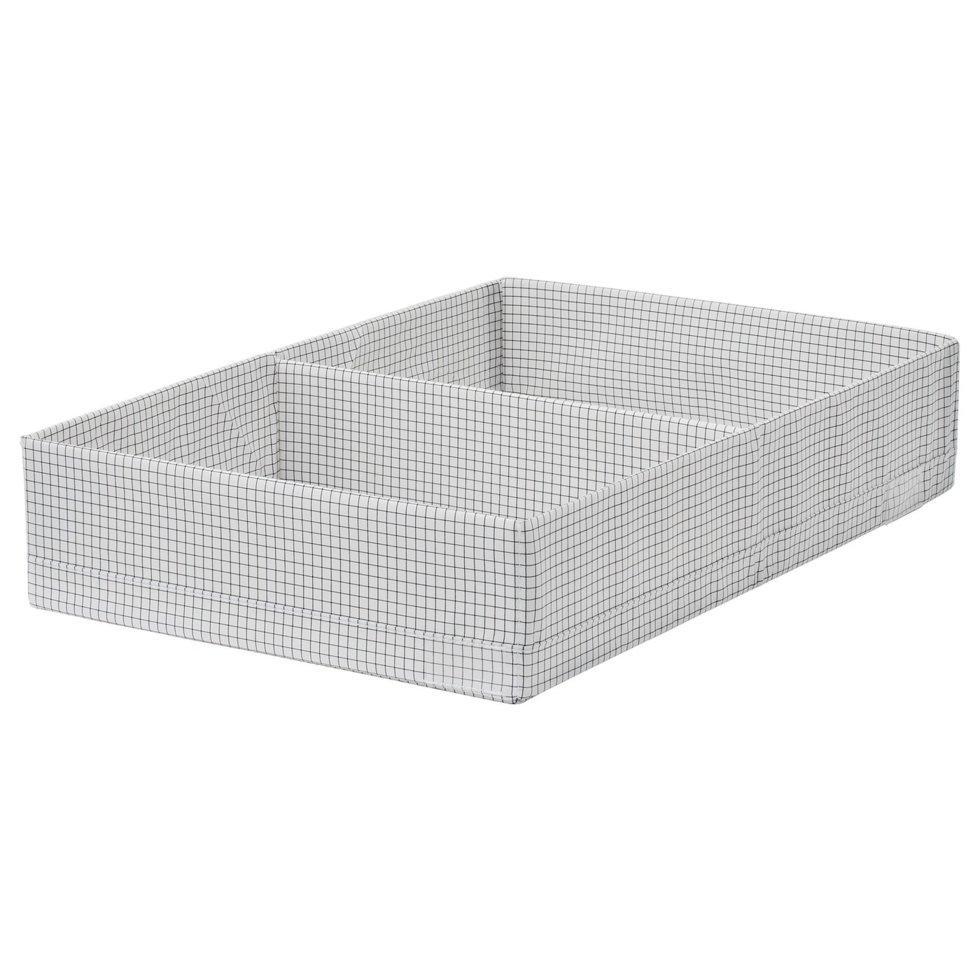 STUK СТУК, Коробка з відділеннями, білий/сірий34x51x10 см