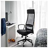 MARKUS МАРКУС, Офісний стілець, ВІССЛЕ темно-сірий, фото 4