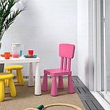 MAMMUT МАММУТ, Дитячий стілець, для приміщення/вулиці, рожевий, фото 2