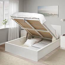 MALM МАЛЬМ, Ліжко з підіймальним механізмом, білий140х200 см